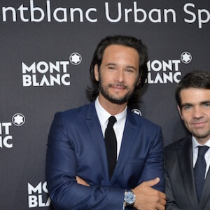 PARIS, FRANCE - JUNE 21:  (L-R) Rodrigo Santoro and Jerome Lambert attend the Montblanc Urban Spirit Launch on June 21, 2016 in Paris, France.  (Photo by Stephane Cardinale - Corbis/Corbis via Getty Images for Montblanc)