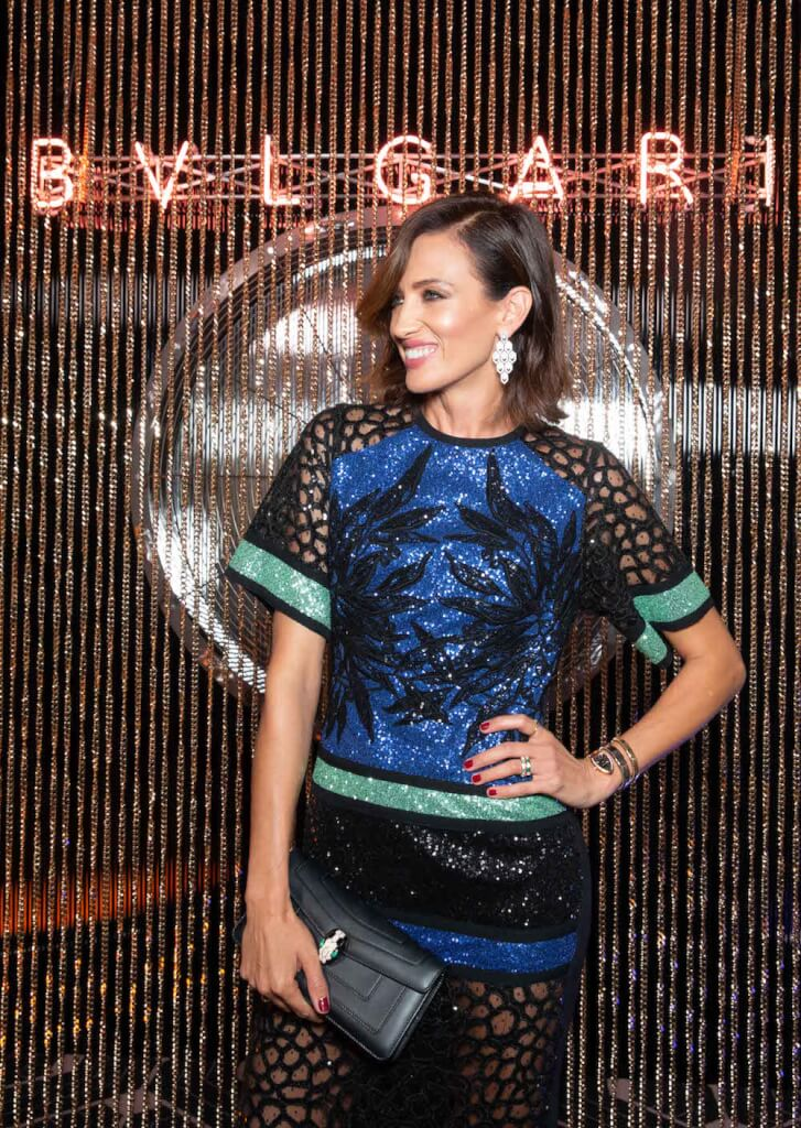 Nieves ALVAREZ. Bulgari SS19 Accessories Party. Milan. Italy 09/2018 © david atlan
