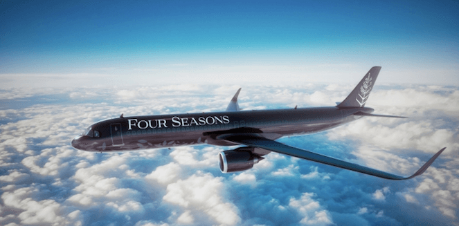 Novos roteiros a bordo do novo Four Seasons Private Jet